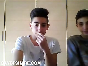 Amateur Italian boys jerk off for the live chat