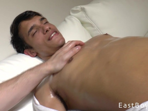 Hunk with camera is fondling gay dude and filming on camera