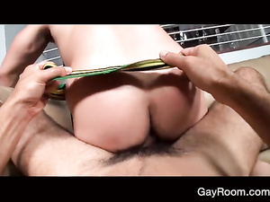 Dude with camera is making two twinks to fuck in front of him