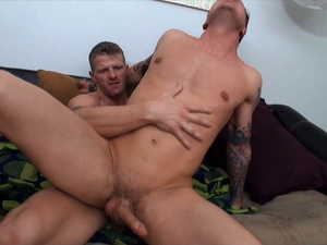 Black-haired Parker London takes a gay cowboy ride