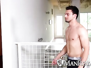 Twink seduces sexy gay in shower and then fucks hot on couch